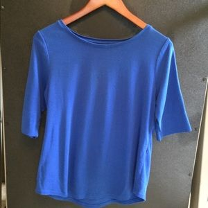 Chico's Ultimate Tee Size 1 Blue EUC